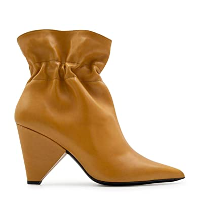 cb34486612eb Image Unavailable. Image not available for. Color  ALDO CASTAGNA Women s  118Desi9080ocra Brown Leather Ankle Boots