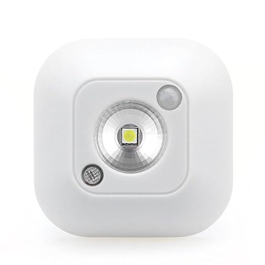 tioodre Stick-on Luz del Sensor de movimiento, Luz de noche toogel Blanco cálido