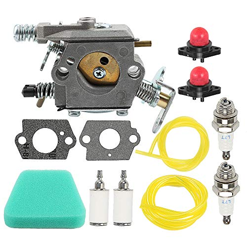 Allong Carburetor for Poulan Chainsaw 1950 2050 2150 2375 Wild Thing 2375LE WT-891 WT-324 C1U-W8 C1U-W14 545081885 530069703 (Poulan Chainsaw 2150)