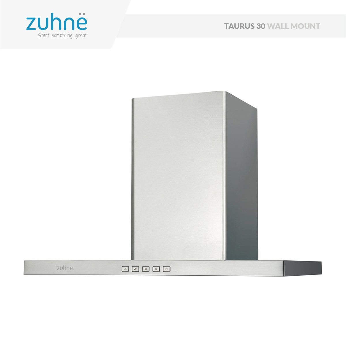 Zuhne Taurus 30 inch Kitchen Wall Mount Vented/ Ductless Stainless Steel Range Hood or Stove Vent with Energy Saving Touch Control & LED Lights by Zuhne (Image #6)