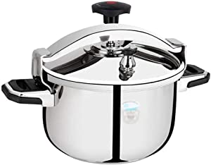 Stainless steel pressure cooker commercial large capacity induction cooker general gas gas stove large pressure cooker household explosion-proof suitable for hotel restaurant hot pot 11L, 13L, 16L,
