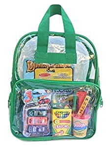 BusyBags - Activity Travel Bags Kids - Boys & Girls Bags - Hours Quiet Activities - Durable See Through Backpack - Keep Kids Busy on Airplanes, Road Trips, etc. (Boys 2)