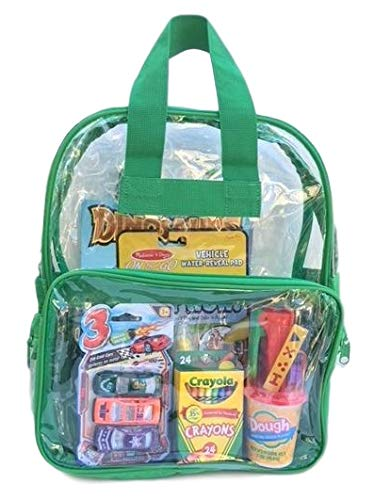 Girl Travel - BusyBags - Activity Travel Bags for Kids - Boys & Girls Bags - Hours of Quiet Activities - Durable See Through Backpack - Keep Kids Busy on Airplanes, Road Trips, etc. (Boys 2)