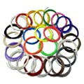 6m x 25pcs ABS 1.75mm 3D Pen Filament for 3D Printing Pen with Free Ebook included
