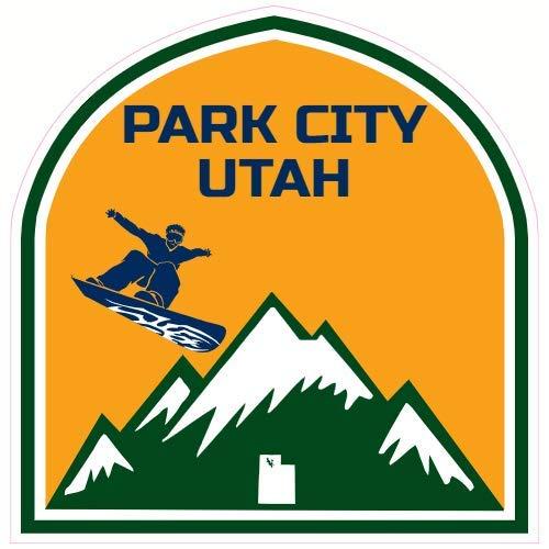 U.S. Custom Stickers Park City Utah Mountain Snowboard Sticker, 3