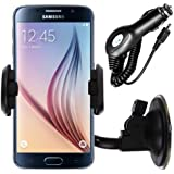 iGloo In Car Windscreen Suction Holder Mount And Charger For The Samsung Galaxy S6 Handset