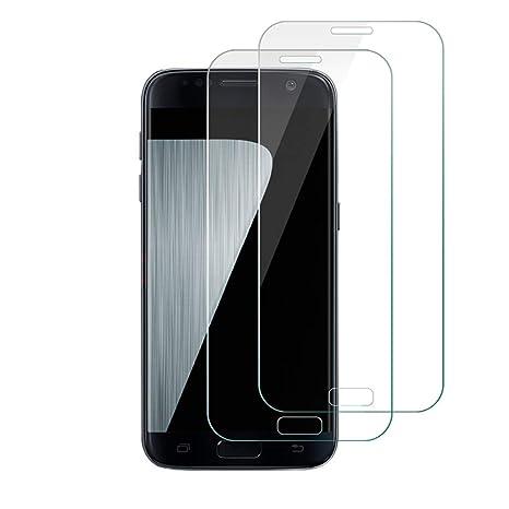 Galaxy S7 Panzerglas Schutzfolie[2 Stück], Etmury Panzerglasfolie Galaxy S7 Schutzfolie Hartglas [Blasenfreie] [Anti-Kratz] G