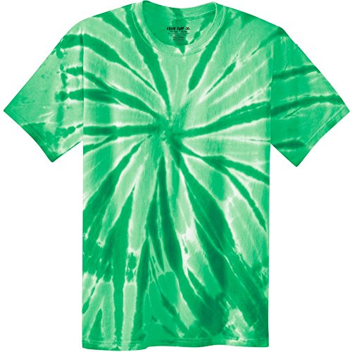 (Joe's USA Koloa Surf (tm) Youth Colorful Tie-Dye T-Shirt,S-Kelly )