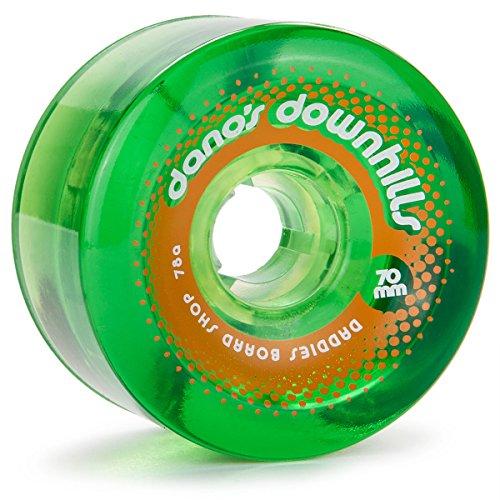 (Daddies Board Shop Dano's Downhills Longboard Wheels 70mm 78a Green)