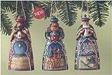 Updated Heartwood Creek Nativity Ornaments: Three Wisemen, Set of 3