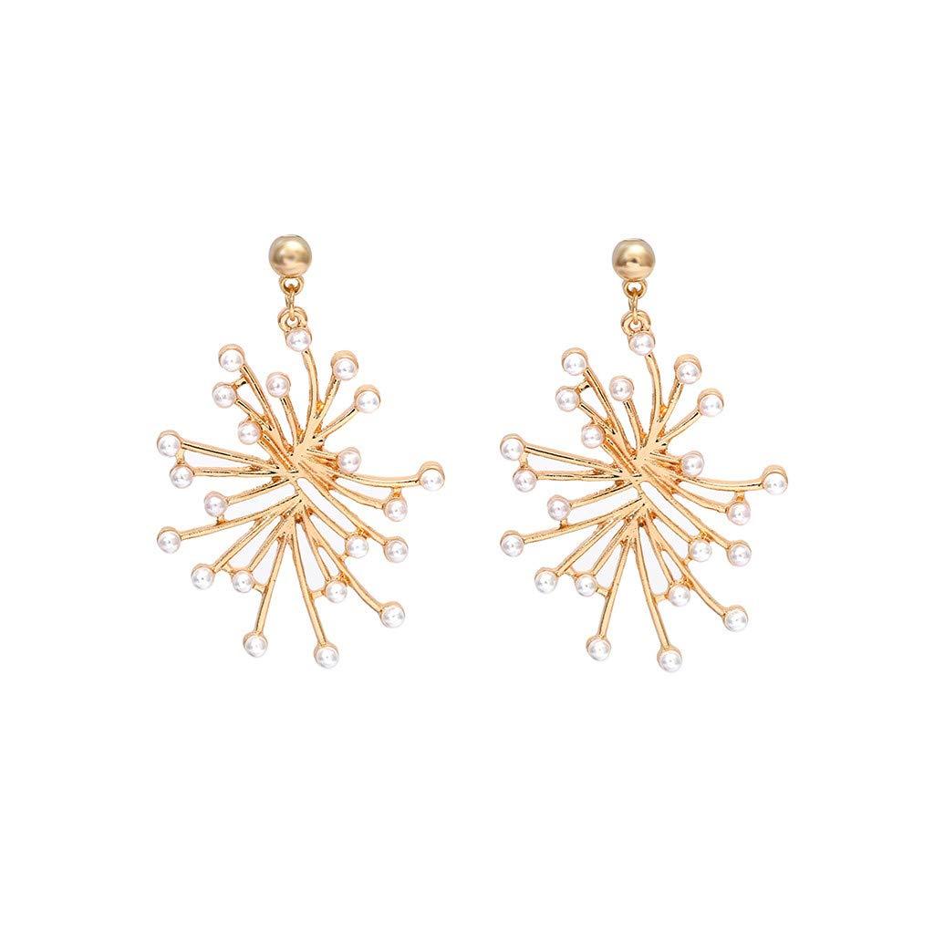 XBKPLO Irregular Earrings Simple Geometric Gold Pearl Dangling Earrings Hypoallergenic Women's Elegant Wild Jewelry Gifts