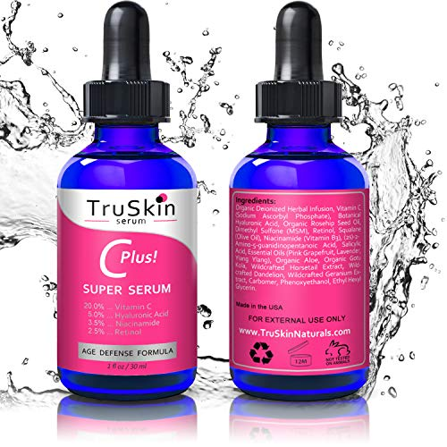 TruSkin Vitamin C-Plus Super Serum, Anti Aging Anti-Wrinkle Facial Serum with Niacinamide, Retinol, Hyaluronic Acid, and Salicylic Acid, 1 oz by TruSkin Naturals (Image #2)