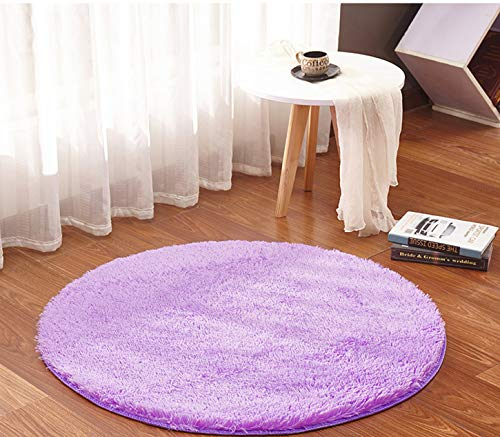 - Super Soft Circle Rugs for Girls Princess Castle Toddlers Play Tent 5.3ft Diameter Circular Rugs for Kids Bedroom Baby Room Round Shag Area Playroom Teepee Carpets and Nursery Rugs (Violet)