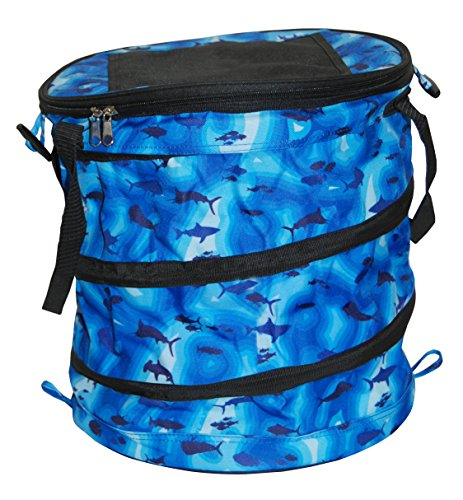 Taylor Made Products 7912 BS, Collapsible Cooler, 8 Liter, Zippered Top, Velcro Access Hatch, Blue Sonar