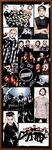 5 Seconds Of Summer - 5SOS - Framed Music Door Door Poster / Print (Grid / Photo Montage 2) (Size: 21