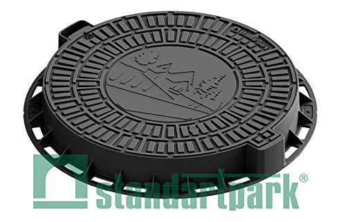 Standartpark - Plastic Manhole Cover with Opening Lid which bolts down and steel reinforcements