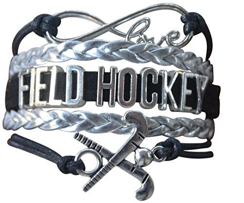 Infinity Collection Field Hockey Bracelet, Field Hockey Jewelry, Field Hockey Gifts, Field Hockey Charm Bangle Bracelet for Field Hockey Players