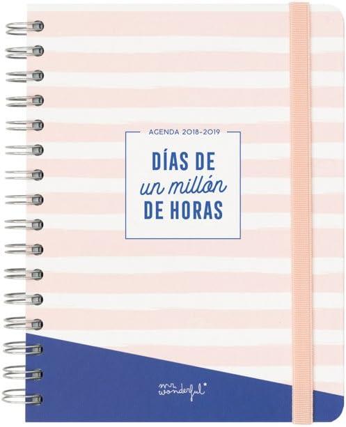 Mr. Wonderful - Agenda escolar clásica 2019-2020 diaria - Días de un millón de horas: Amazon.es: Oficina y papelería