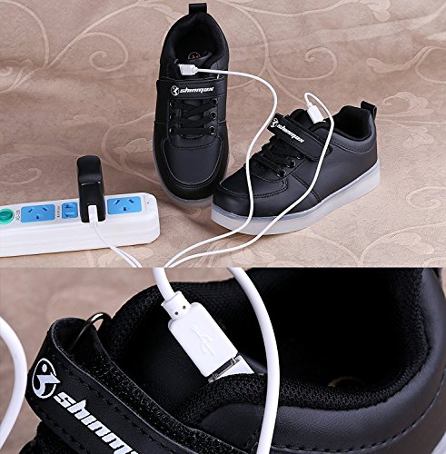 Black2 Ce Christmas Hallowen Colors Valentino Uomo Light Per 7 Shinmax Scarpe Led Chargable Certificato San Con Up Da Velcro Shoes Gift Donna Party Usb 14gxwTxqf