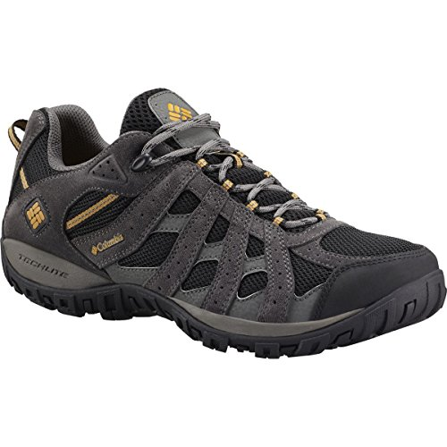 Columbia Men's Redmond Waterproof Hiking Shoe, Black, Squash, 11 D US by Columbia