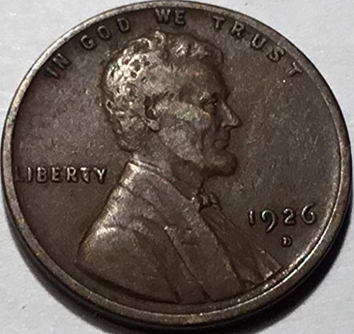 1926 D Lincoln Wheat Cent Penny Very Fine