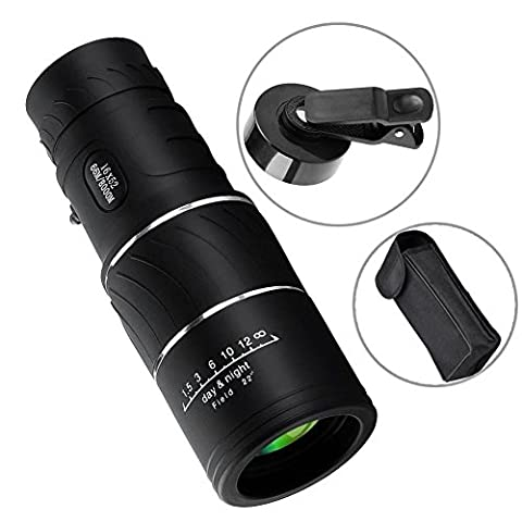 Westore 16x52 Monocular Scope Dual Focus Optics Zoom Telescope, Waterproof, Low Night Vision, For Birds Watching/ Wildlife/ Hunting/ Camping/ Live Concert - With Phone Clip & 2 Lens (Echo Zoom Scope)