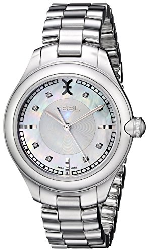 Ebel Women's 1216136 Onde Stainless Steel Watch with Diamond Accents
