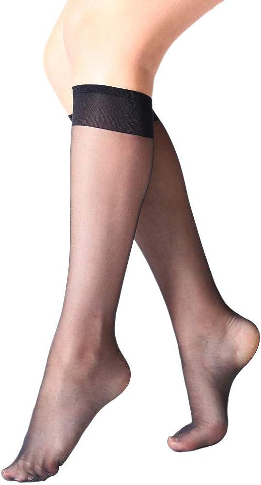 1-4PC Backseam Business Sheer Color Knee Hi Under Knee Socks Stockings 3 Colors