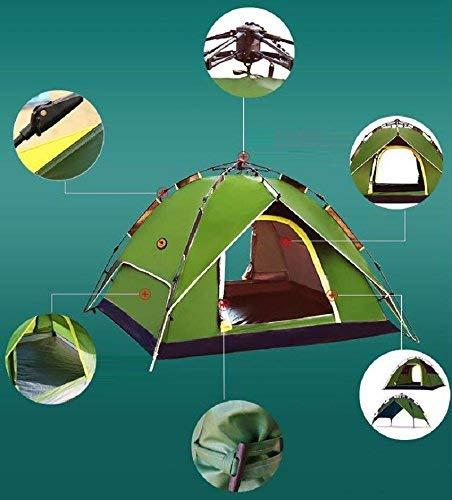 GZZ Guo Outdoor Products Outdoor 3-4 persone Tende Tende Tende da campeggio automatiche, tende da campeggio selvatiche, pioggia di panno Oxford, tenda da esterno portatile,3-4 persone,Blu | Sale Online  | qualità regina  be1492