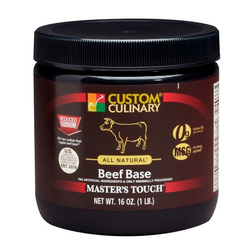 Custom Culinary Masters Touch All Natura, Gluten Free Reduced Sodium Base, Beef, 1 Pound