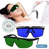 Tillmann's® Gafas Depilacion Laser 2 Unidades – Gafas Protectoras Depilacion IPL / HPL / Luz Pulsada