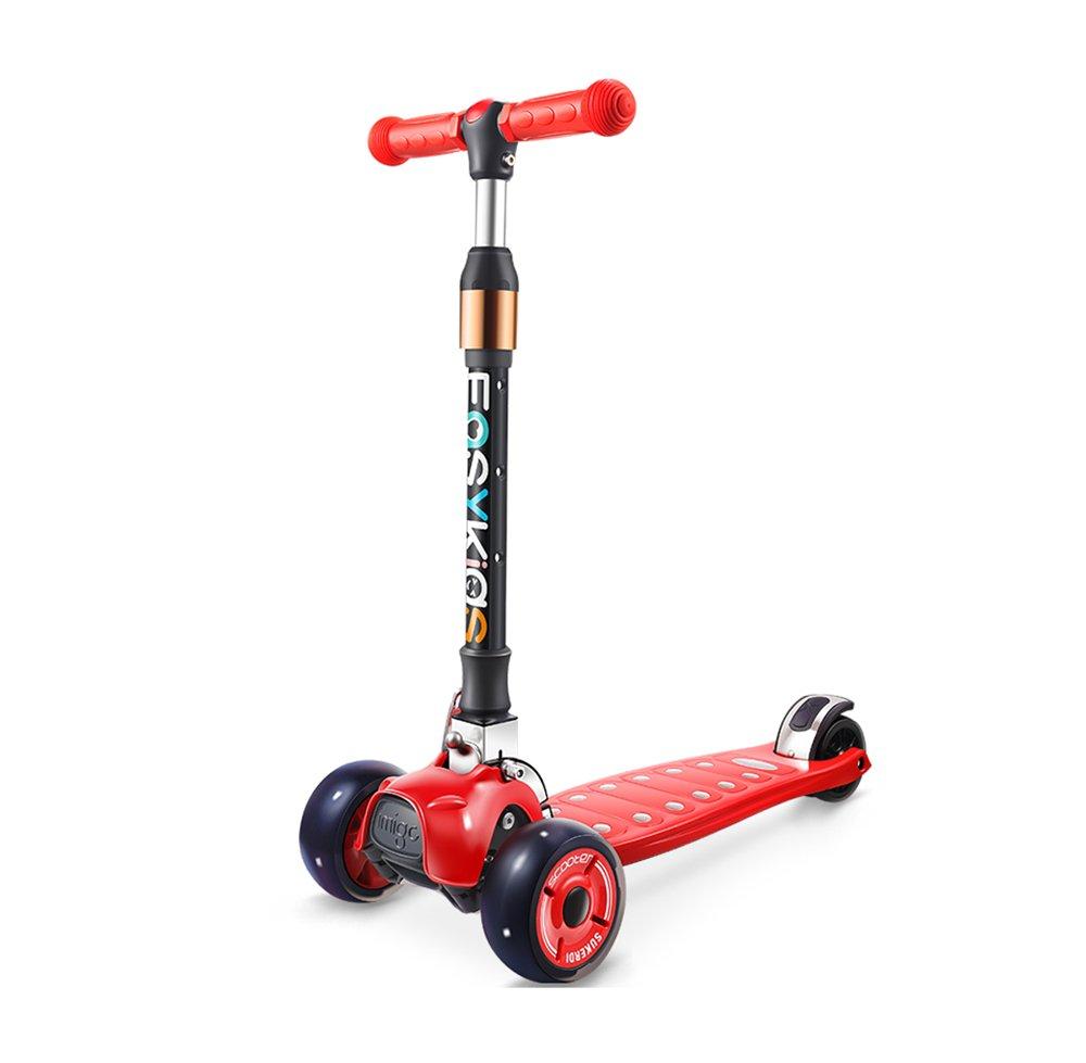 nuevo sádico rojo Scooter   Juguetes para para para Niños Hombres y Mujeres yo 3 Ruedas Plegado Elevación Cuatro Ruedas Ajustables de Gran Tamaño (Color   rojo)  descuento de ventas