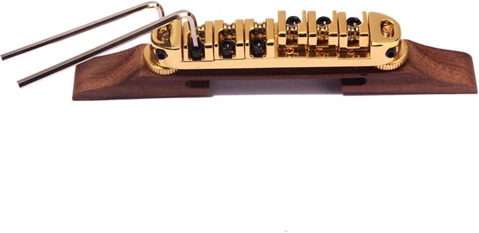 Chrome Chrome Bridge Roller Saddles With Archtop Rosewood Base Parts Jazz Guitar