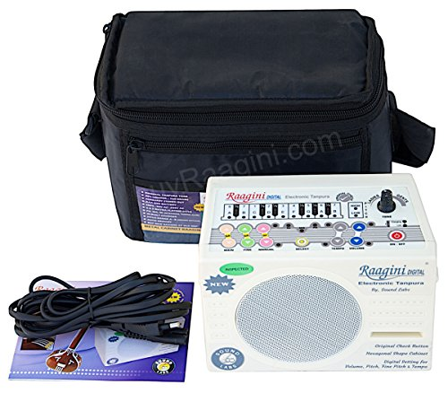 - Electronic Tanpura Raagini by Sound Labs, Tanpura Sampler, Instruction Manual, Bag, Power Cord, Digital Tambura / Tanpura Box (PDI-DG)