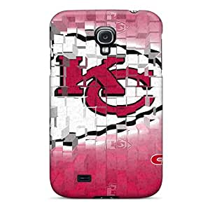 Perfect Hard Phone Cases For Samsung Galaxy S4 With Allow Personal Design Lifelike Kansas City Chiefs Skin JonBradica