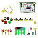 WXLAA 絵画スポンジブラシセット DIY 子供用 スタンプ ペインティング 学習 教育ツール 図面 おもちゃ ギフト 403448741