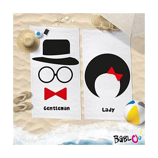 Babloo Coppia di Teli Mare Love You And Me Lady And Gentleman -70x100- 1 spesavip