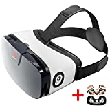VR Headset - Virtual Reality Goggles by VR WEAR 3D VR Glasses for iPhone 6/7/8/Plus/X & Samsung S6/S7/S8/Note and other Android Smartphones with 4.5-6.3' Screens + 2 Stickers
