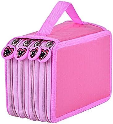 STOBOK Estuche escolar,grande Caja de Lápices para oficina/escuela 72 Slots 4 compartimento (Rosa): Amazon.es: Hogar