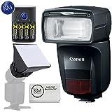 Canon Speedlite 470EX-AI Flash + Essential K&M Accessory Bundle