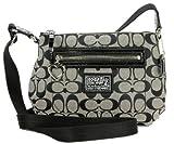 Coach Daisy Signature Swingpack Crossbody Bag, Style F48755 Black White