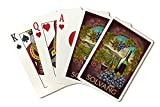 Solvang, California - Merlot (Playing Card Deck - 52 Card Poker Size with Jokers)