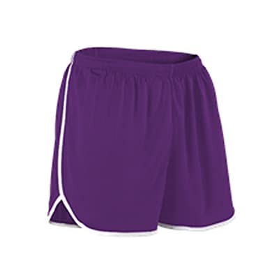 Alleson YOUTH PERFORMANCE TRACK SHORT PURPLE, WHITE S R2LFPY R2LFPY-PUWH-S