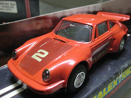 Scalextric (Great Britain) Red Porsche 930 (Turbo) Plastic Slot Car 1:32