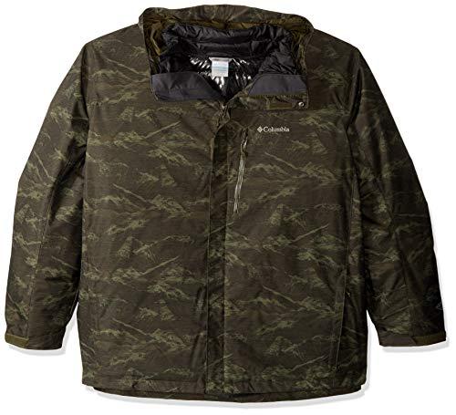 (Columbia Men's Tall Plus Size Whirlibird Iii Big & Tall Interchange Jacket, Peat Moss MTN Jacquard Print,)
