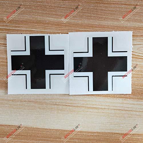 3S MOTORLINE 2X Glossy 3'' Iron Cross Germany German Decal Sticker Car Vinyl 1916
