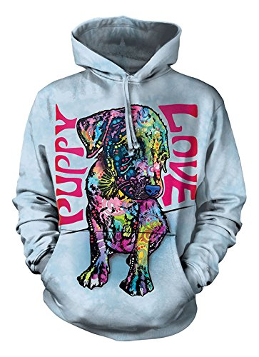 The Mountain Puppy Love Hoodie, Small, Blue (Hoodie Mens Puppy Love)