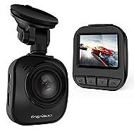 """CACAGOO Caméra de Voiture Dash Cam DVR de voiture Ambarella A7L 2"""" LCD HD 1296P et HDR 1080p 170°Grand Angle avec Enregistrement en boucle Capteur-G Détecteur de mouvement Noir"""