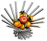 Visol Products Heliot Stainless Steel Modern Fruit Bowl