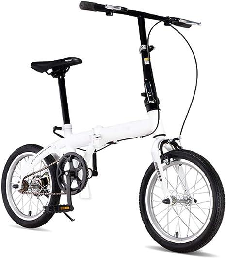 Grimk Bicicleta Plegable para Adultos Rueda De 16 Pulgadas Bici ...